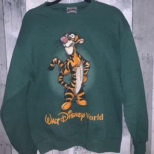 Walt Disney World Tigger Green Crewneck